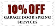 Garage Door Spring Sevices Coupon