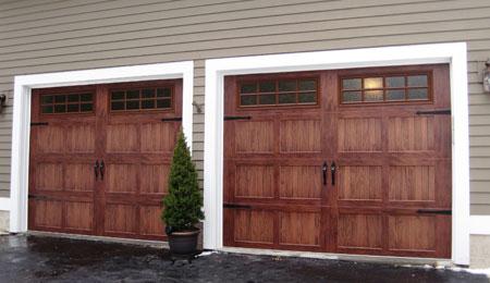 Wood Tone Garage Door